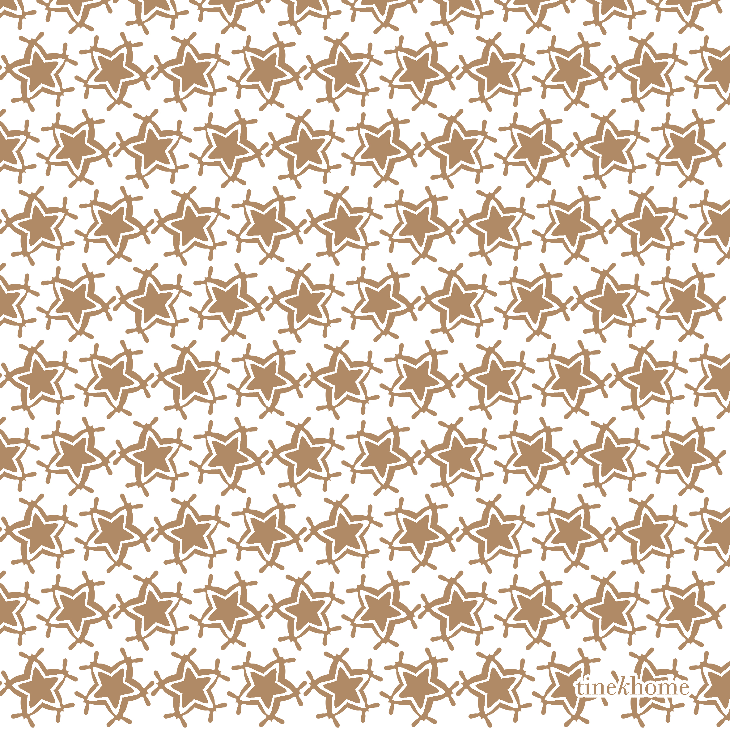 Anti Stain Proof Resistant Beige Top Quality Christmas Stars Napkins Pack of 6 units