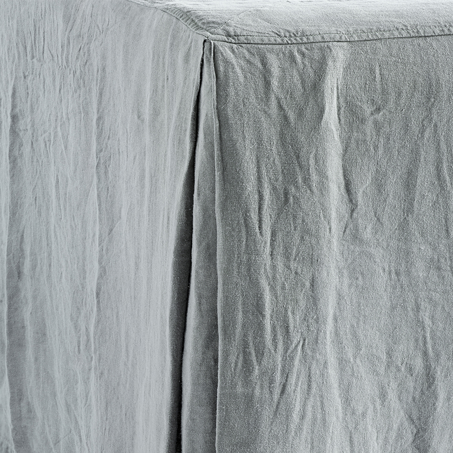 Bed Skirt 180 X 200 X H 45 Cm 100 Linen Standard 100 By Oeko Tex Grey Products Tine K Home