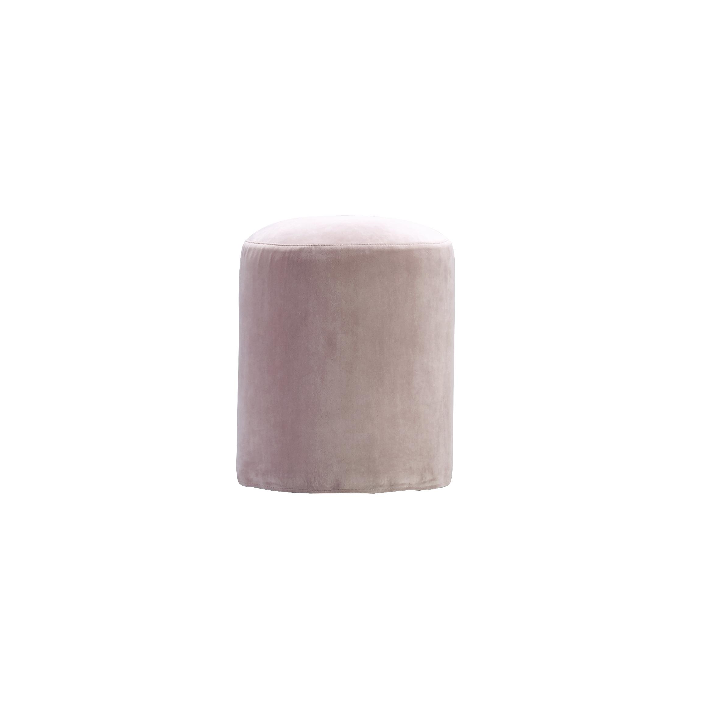 pouf round dia 35 x h 45 cm velvet rose products tine k home. Black Bedroom Furniture Sets. Home Design Ideas