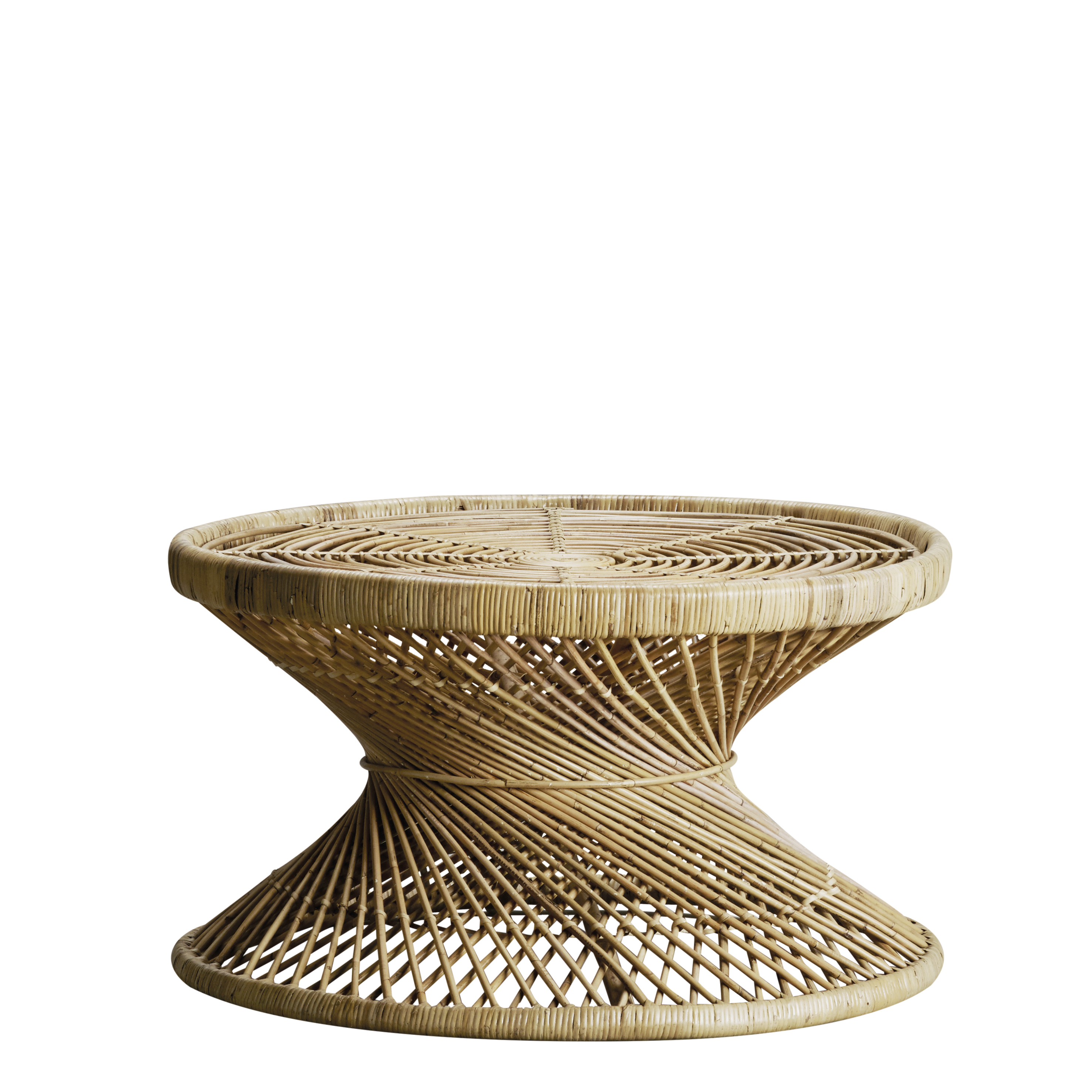 Round Rattan Coffee Table For The Botanical Decor