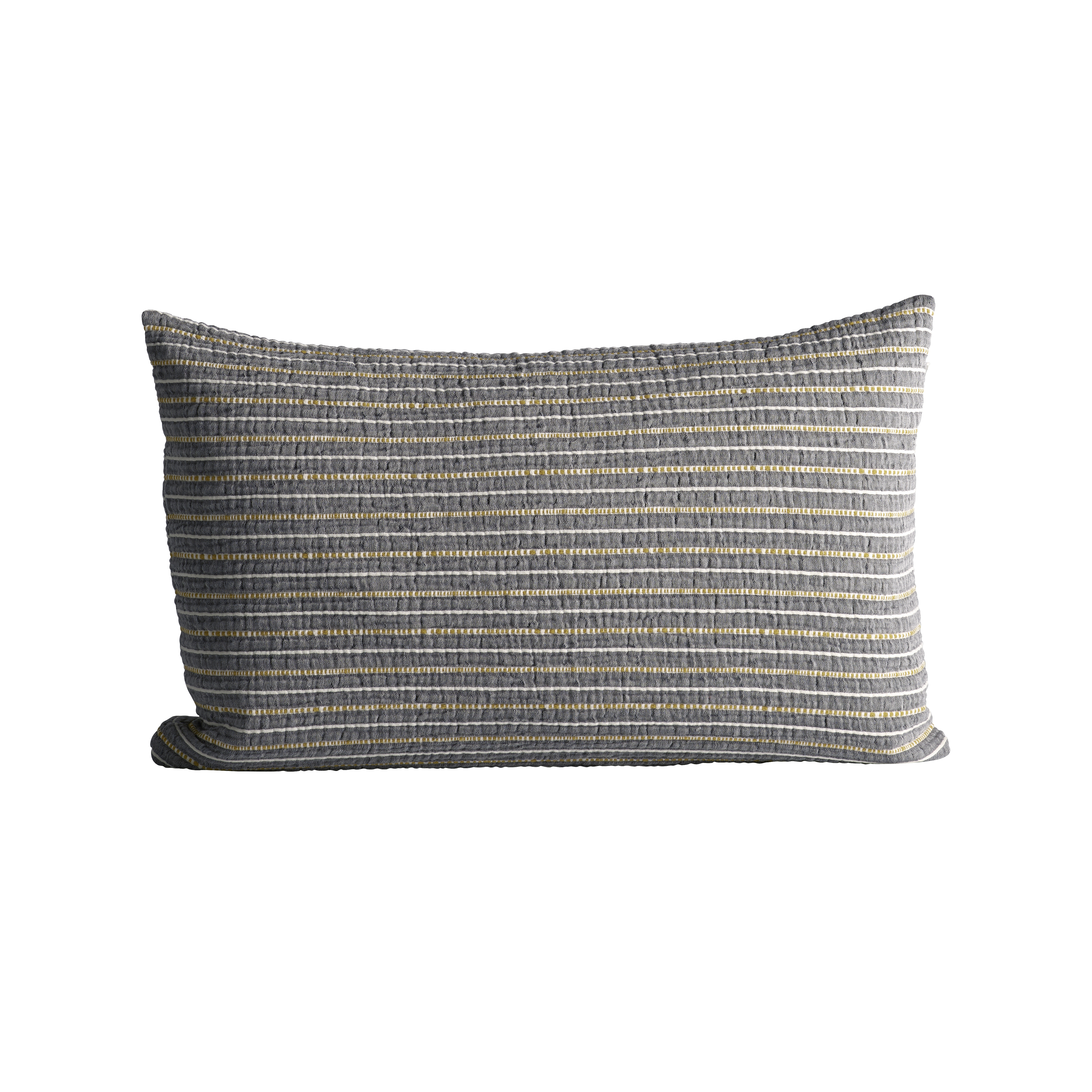Cushion Cover In Fine Woven And Striped Texture 40 X 60