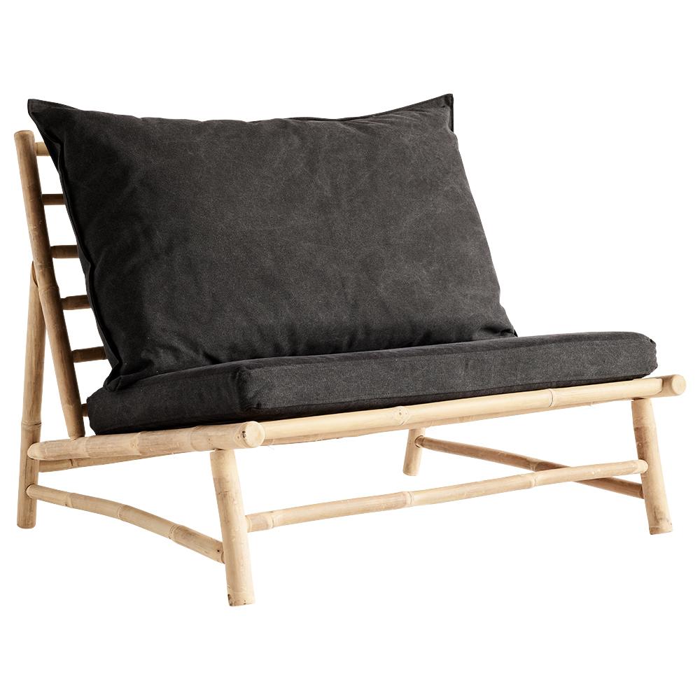 Bamboo Lounge Chair W Cushions