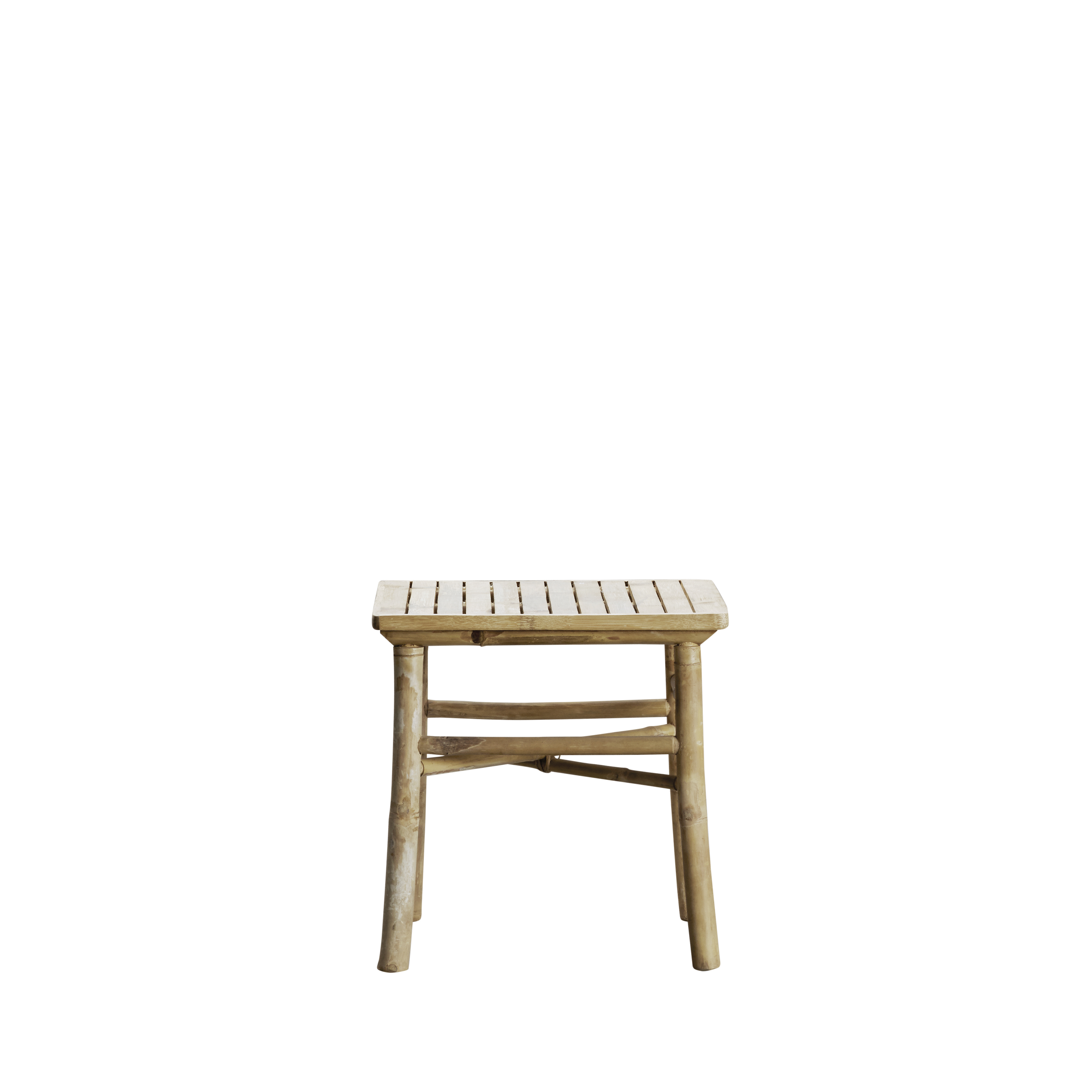 Small bamboo table for both indoor and outdoor use