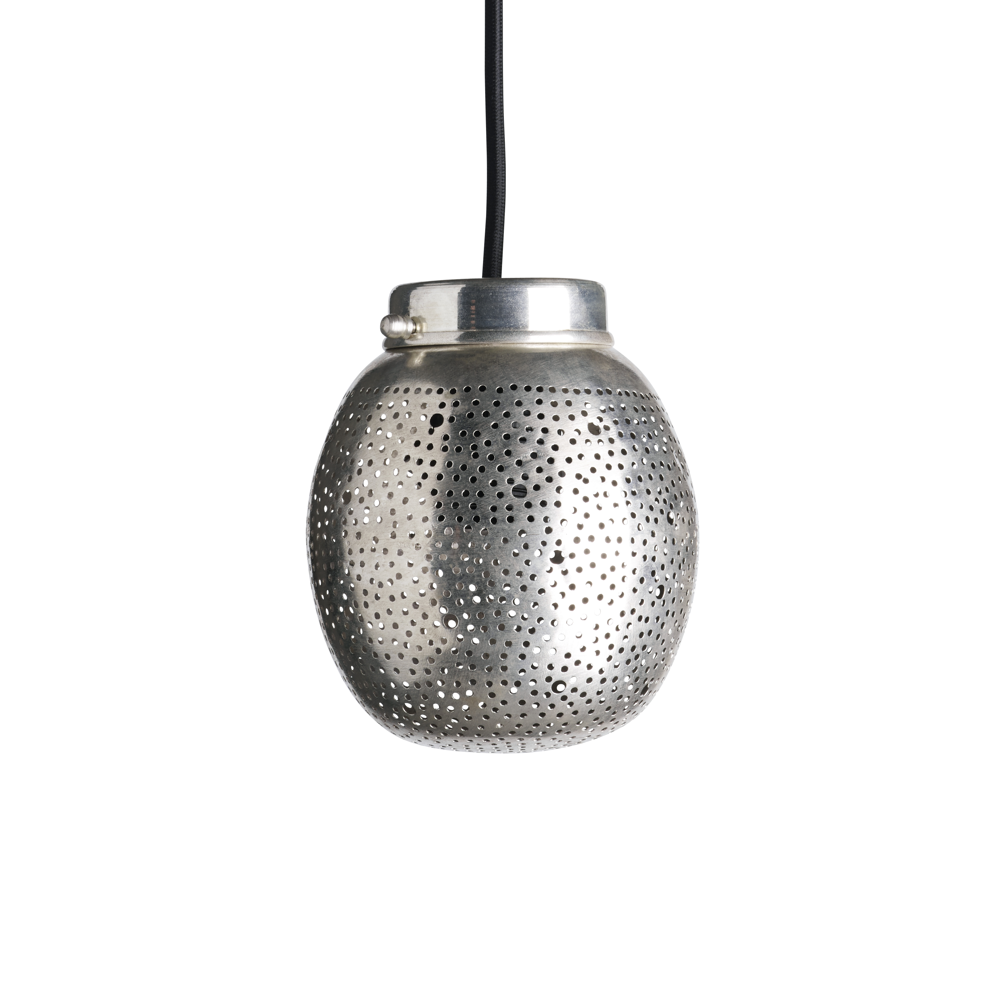 Dome Shaped Pendant In Silverpleated Brass Products