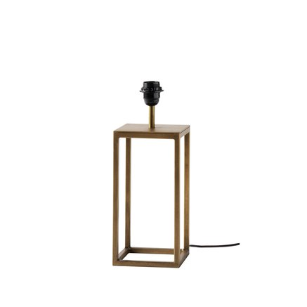 Table lamp, E27 socket, 15x15xH30 cm, honey gold