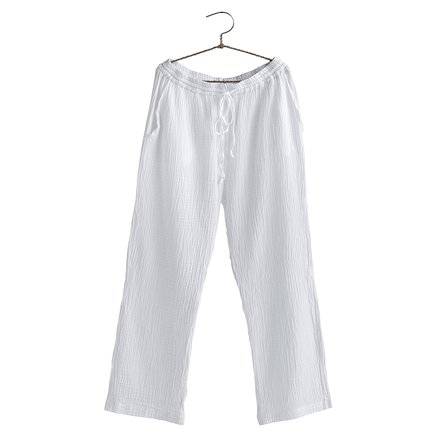 Pants, size 1 - S/M, cotton, white