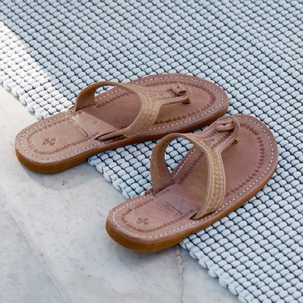 Leather sandal, size 37