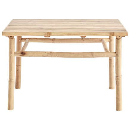 Bamboo lounge table, 70x70xH45, natural