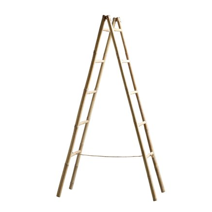 Bamboo ladder, for deco, 40xH158, nature