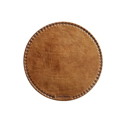Brown leather mouse pad