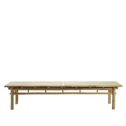 Bambus lounge table, 70x170xH35 cm, natur