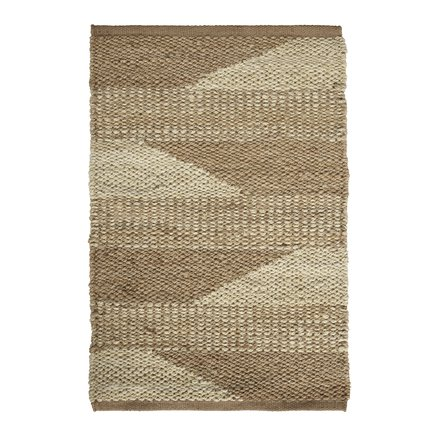 Carpet in jute, two-colored pattern, 60x90 cm, nat