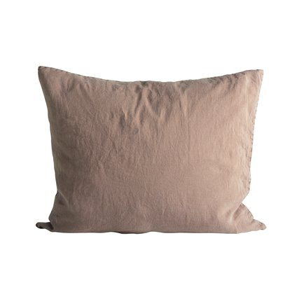 Cushion cover in linen, 50 x 60 cm, camel