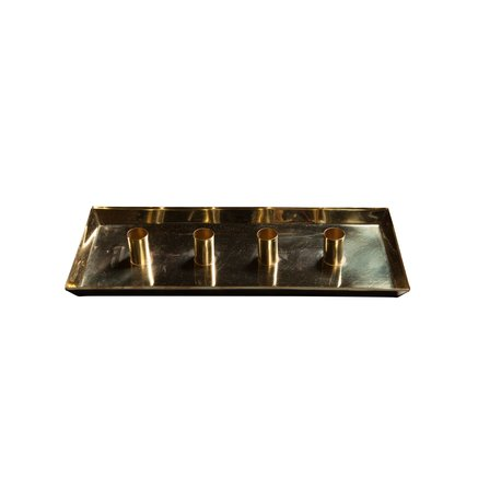 Tray for 4 candles, brass