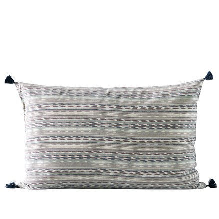Cushion cover, w. tassels, 50x75 cm, bomuld, navy