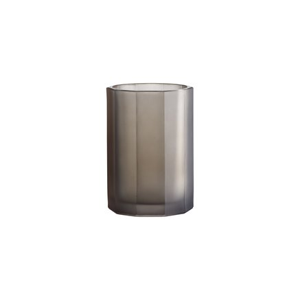 Pleated vase, large, grey