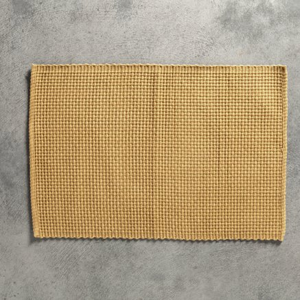 Placemat, woven cotton, 35 x 50 cm, curry