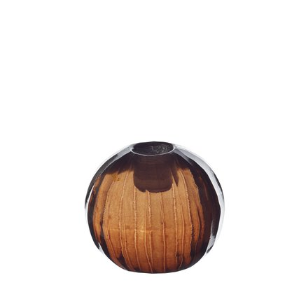 Candle holder, round, facet, D 4,5 cm, port