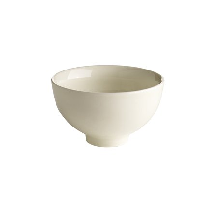 Bowl, glazed porcelain, D10xH6, white