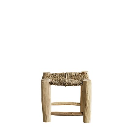 Stool in palmleaf/tree, XS, natural
