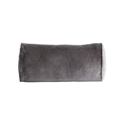 Cushion cover, D 25 x 50 cm, velvet, thunder