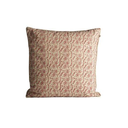 Cushion cover with small flowered print, 50 x 50 cm, red