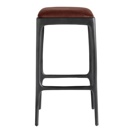 Bar stool, recycled aluminium, 40x40xH75 cm, terra