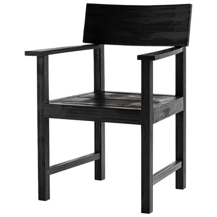 Dining chair, accoya wood, black