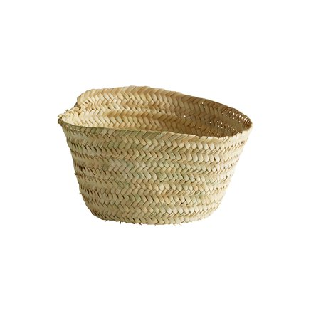 Small basket, no handles, 18 x 10 cm, nature