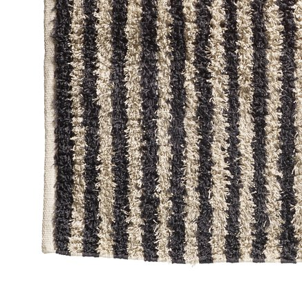 Carpet, 80 x 400 cm, striped, thunder