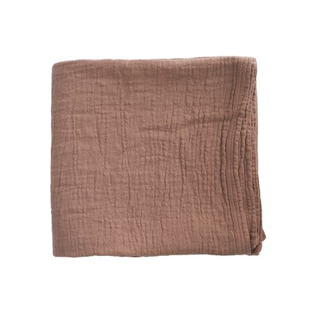 Bed throw, solid col,140x220 cm, 100% cotton,camel