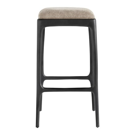 Bar stool, recycled aluminium, 40x40xH75 cm, camel