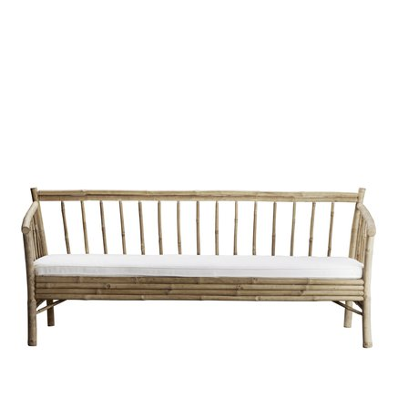 Lounge sofa in bamboo with white mattress