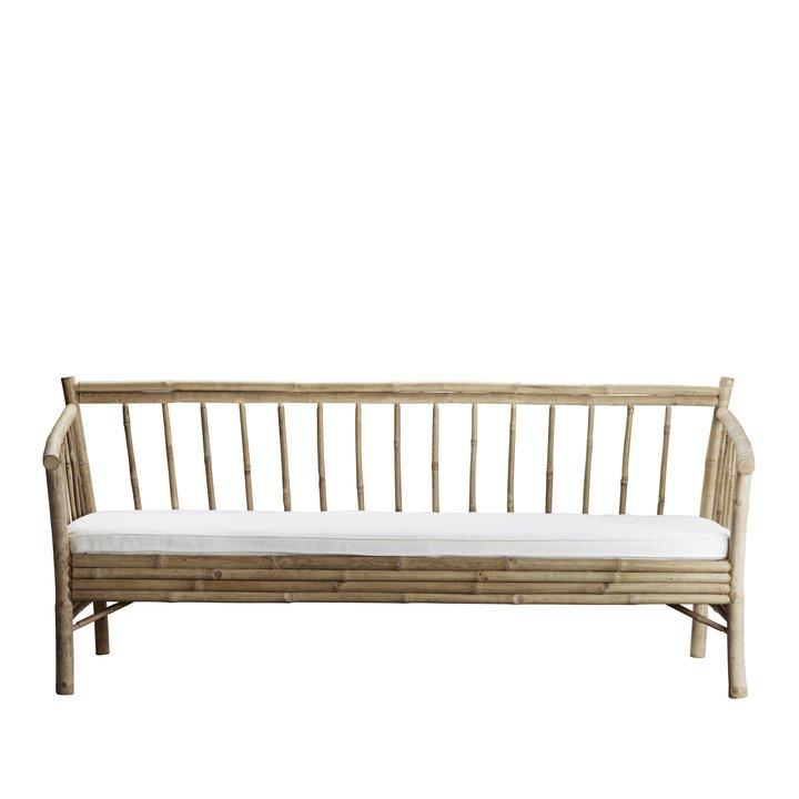 Bambus Lounge Sofa Med Hvid Hynde Produkter Tine K Home