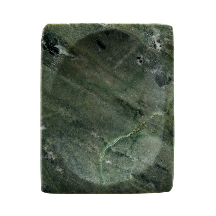 Flat Tray Green Marble 11x16 Cm Agave Products Tine