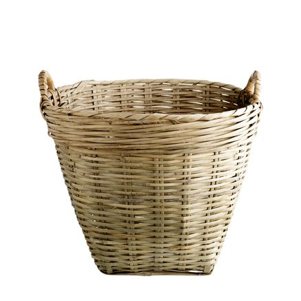Marked basket D35xH35 w. handles, S, natural