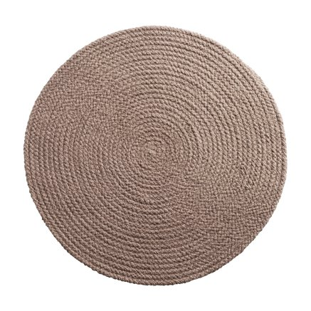 Round placemat, D 40 cm, cotton, rose