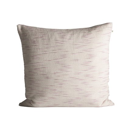 Thick woven cushion cover with horisontal stripes, 60 x 60 cm, pink