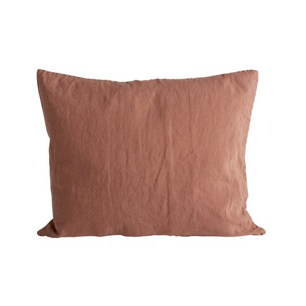 Cushion cover in linen, 50 x 60 cm, rust