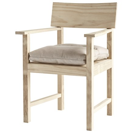Dining chair, accoya wood, 68 x 58 x H 89 cm, nature