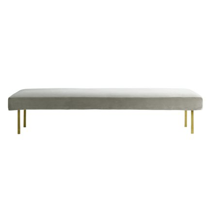 Daybed with brass legs, kit