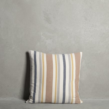 Cushion cover, striped, 50 x 50 cm, 100% cotton, rose