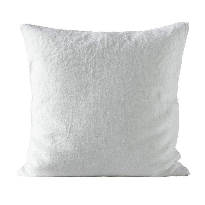 Cushion cover, 50x50 cm,100% linen, OEKOTEX, white