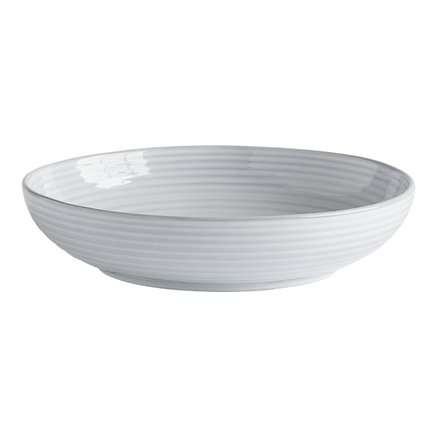 Pasta bowl, glazed stonewear, dia 22xH5 cm, white