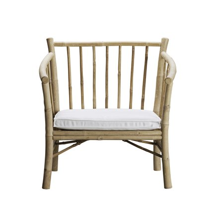 Lounge chair in bamboo with white mattress