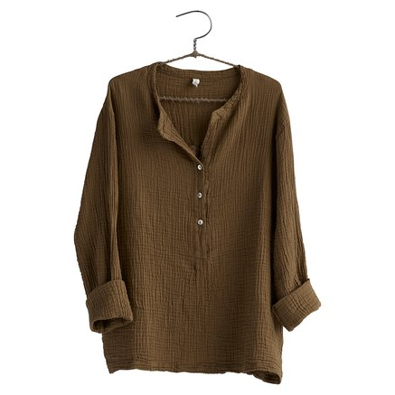 Shirt, size 1 - S/M, cotton, walnut