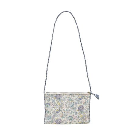 Clutch w. strap ,M,19x27 cm,Liberty,cotton,lavende