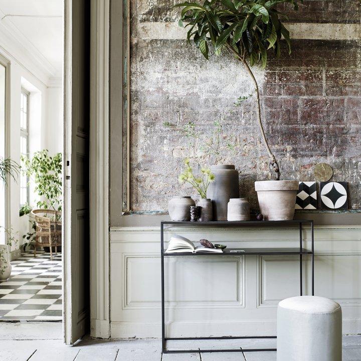 metal konsol bord m hylde 35x100xh85 phantom produkter tine k home. Black Bedroom Furniture Sets. Home Design Ideas
