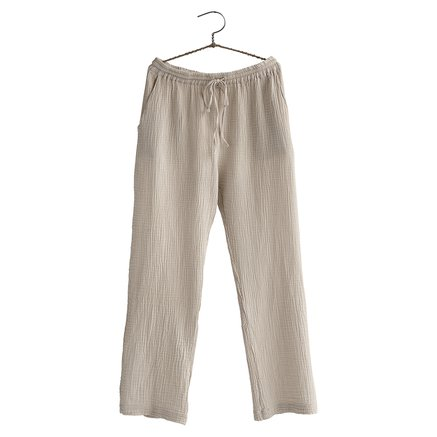 Pants, size 1 - S/M, cotton, sand