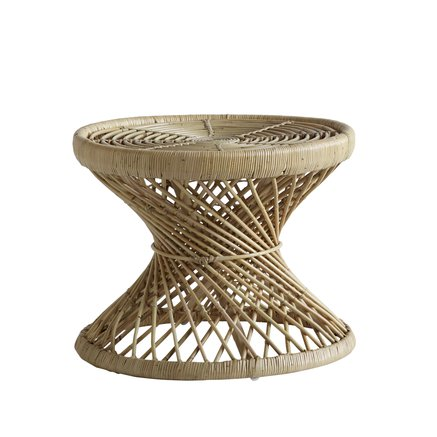 Table in rattan, D. 60 x H 47 cm, nature